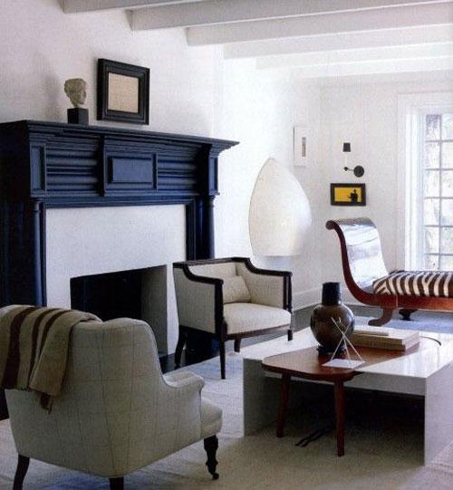 mantel livingroom